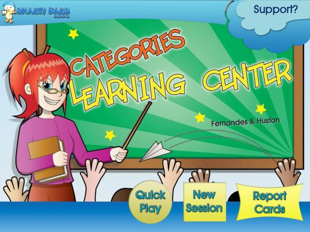 categories learning center start up page