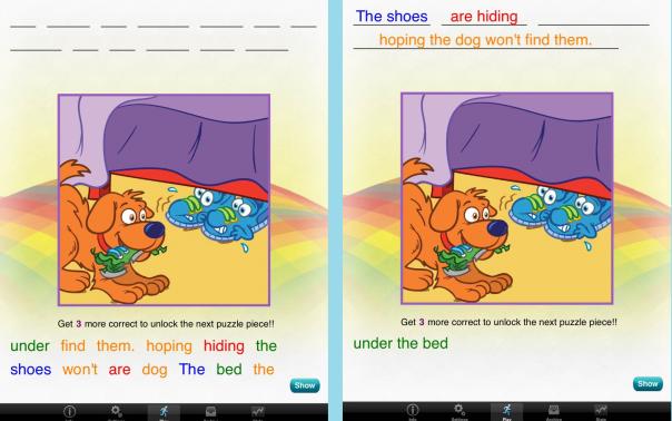 grouping - rainbow sentences