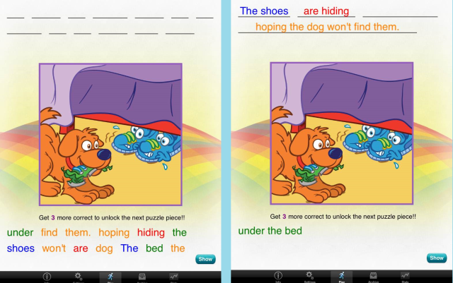 grouping - rainbow sentences