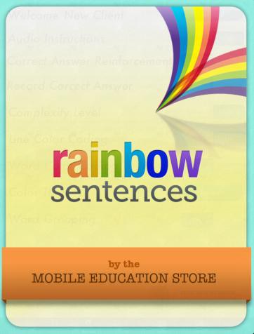 rainbow sentences starter