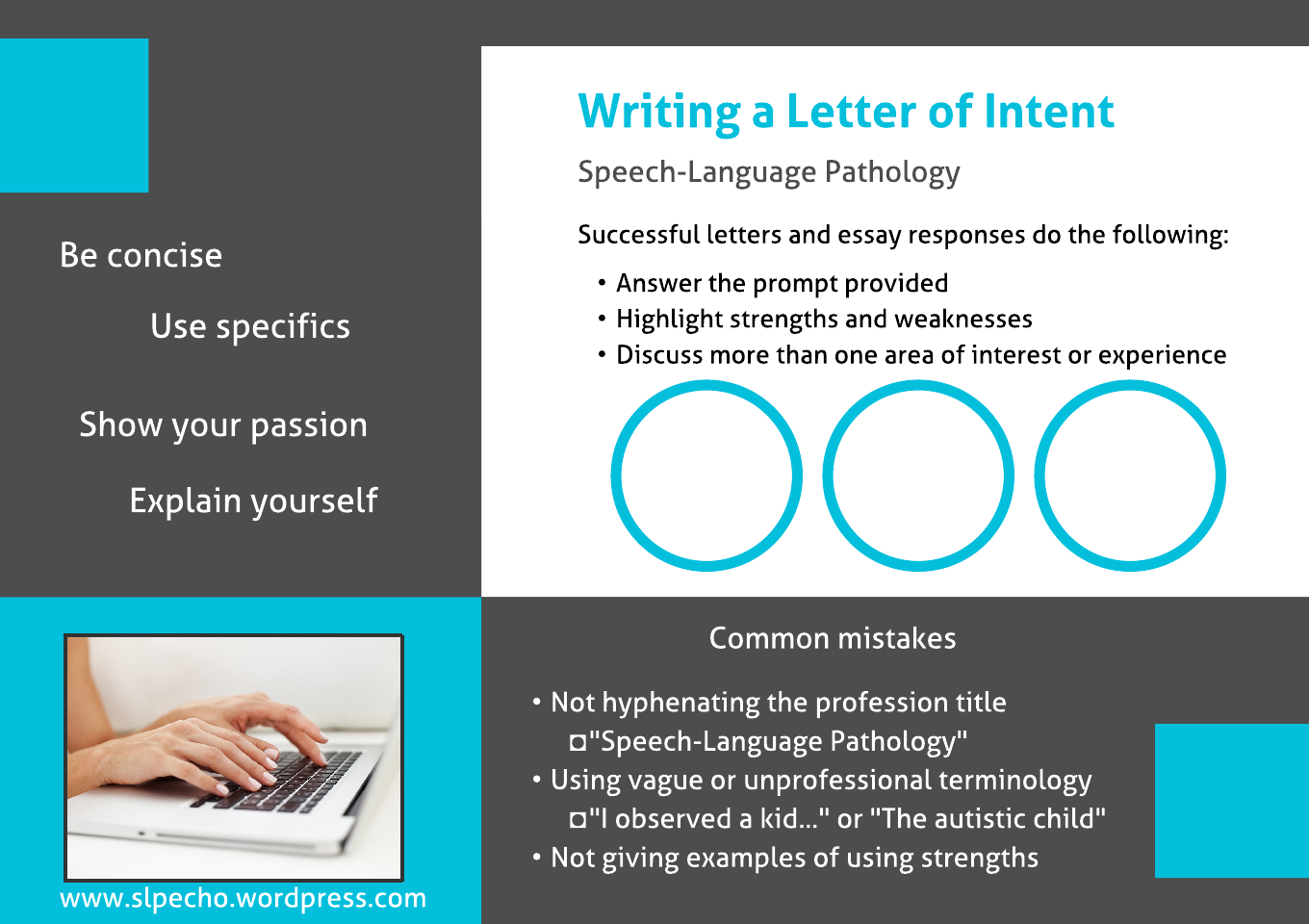 suggestions for writing a letter of intent slp echo